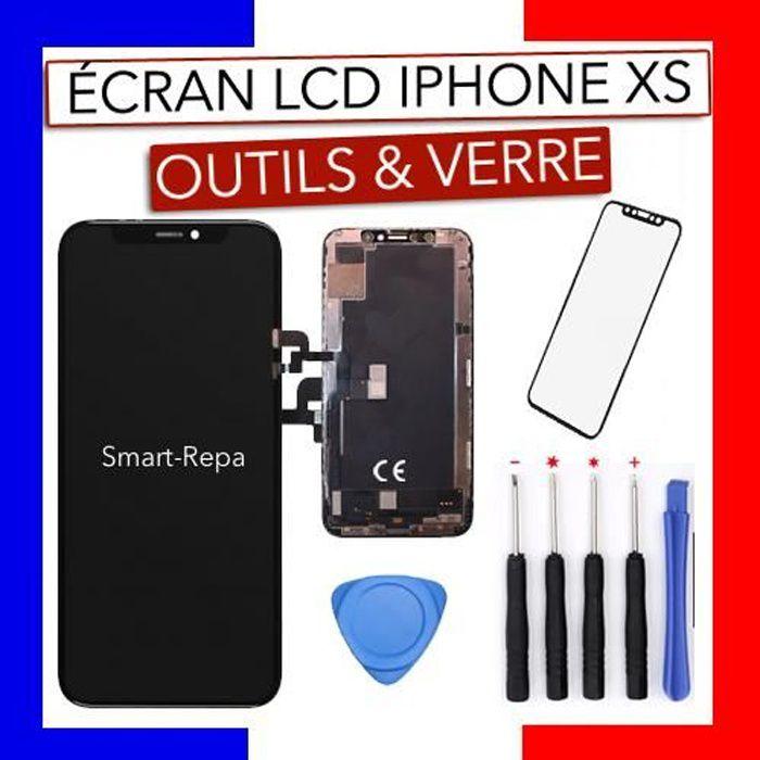 Ecran LCD Iphone XS qualité originale + kit outils + verre trempé