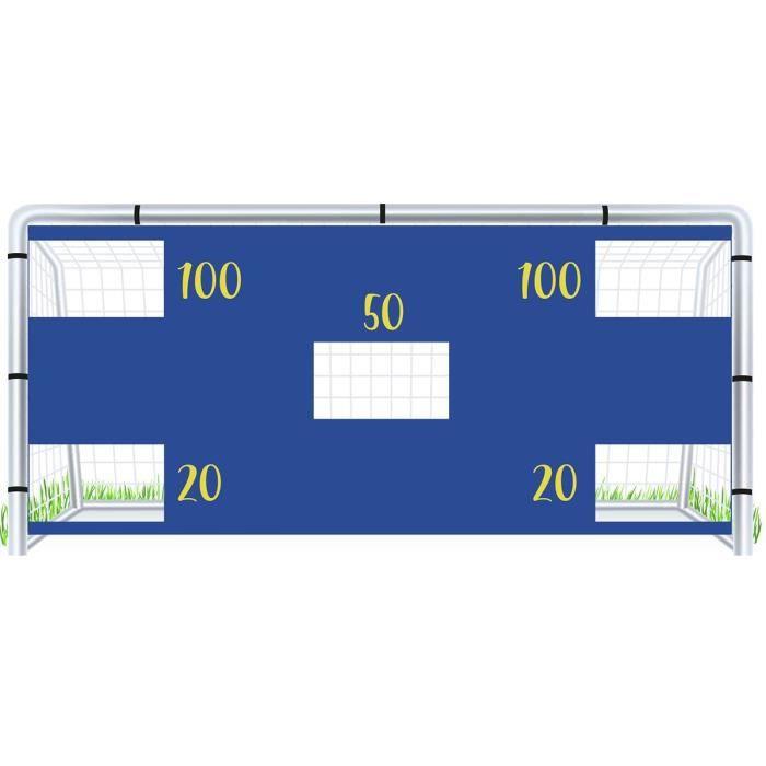 Cible pour but de foot à 8 SportiFrance - bleu/jaune - TU