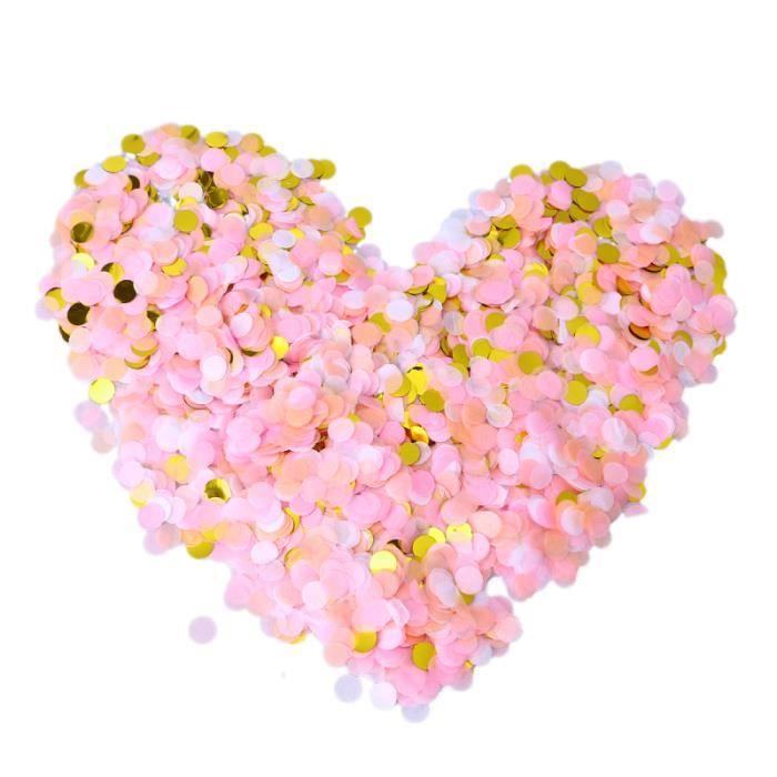 1 cm confettis beau papier romantique fête fournitures accessoires décoration pour mariage bébé CONFETTIS - CANON A CONFETTIS