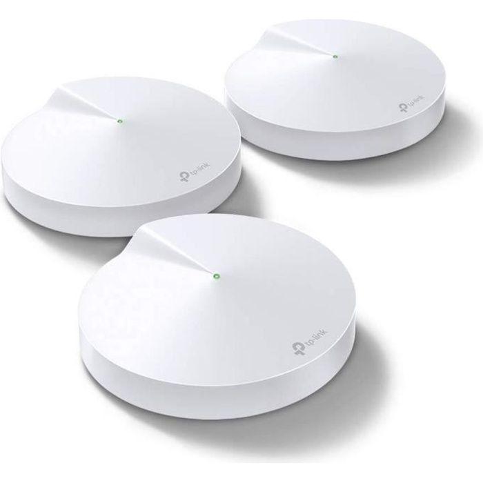 TP-Link Deco M9 Plus(3-Pack) Système Mesh WiFi tri-bande AC 2200 Mbps avec Hub domotique - Couverture jusqu'à 600m2
