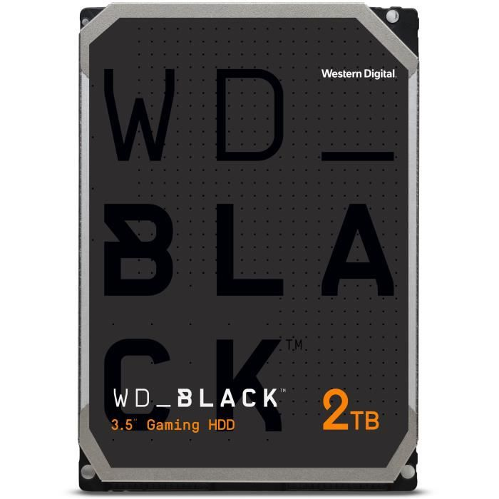 WD Black™ - Disque dur Interne Performance - 2To - 7 200 tr/min - 3.5- (WD2003FZEX)