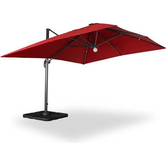 luce parasol d port 3x4m avec led rouge achat vente parasol parasol d port 3x4m luce. Black Bedroom Furniture Sets. Home Design Ideas
