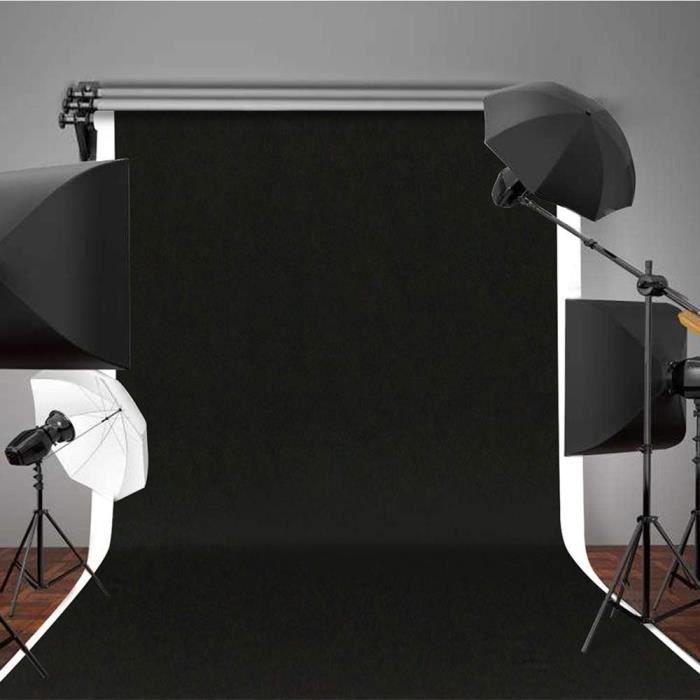 Studio De Toile De Fond Pour Photo Noir Avec Ecran De Tissus Professionnels Non Tisses De 5 2 X 9 8 Pi Da 116 Achat Vente Fond De Studio Cdiscount