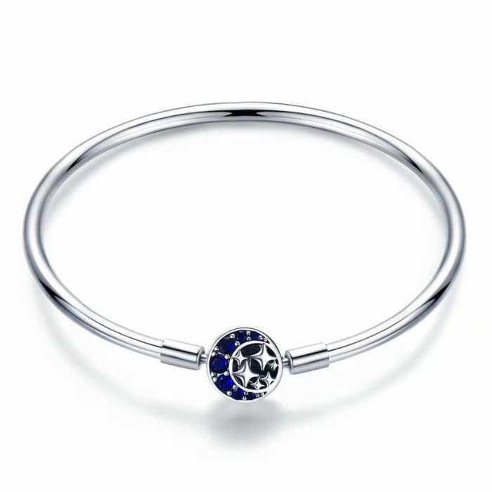bracelet femme argent lune