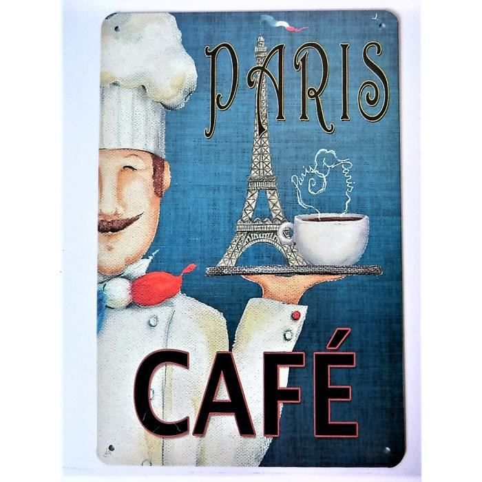 plaque metal paris achat vente plaque metal paris pas cher cdiscount. Black Bedroom Furniture Sets. Home Design Ideas