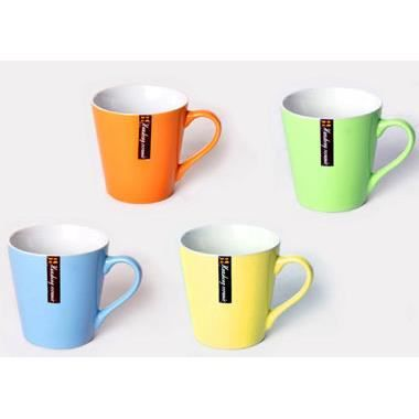 lot de 4 mug tasse couleur en gr s achat vente bol mug mazagran cdiscount. Black Bedroom Furniture Sets. Home Design Ideas
