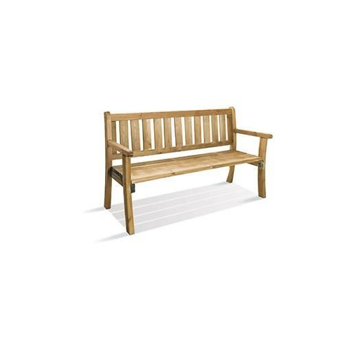 banc de jardin 3 places bois pilar achat vente banc d 39 ext rieur banc de jardin bois pilar. Black Bedroom Furniture Sets. Home Design Ideas