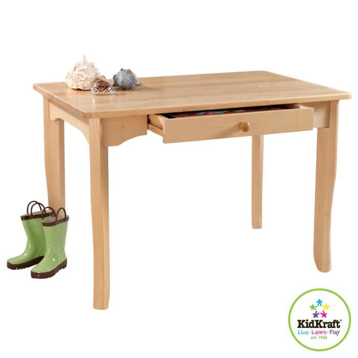 Table bureau enfant en bois avalon kidkraf achat for Table bureau bois