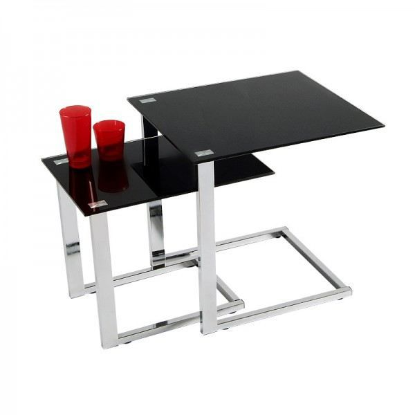 table appoint verre noir. Black Bedroom Furniture Sets. Home Design Ideas
