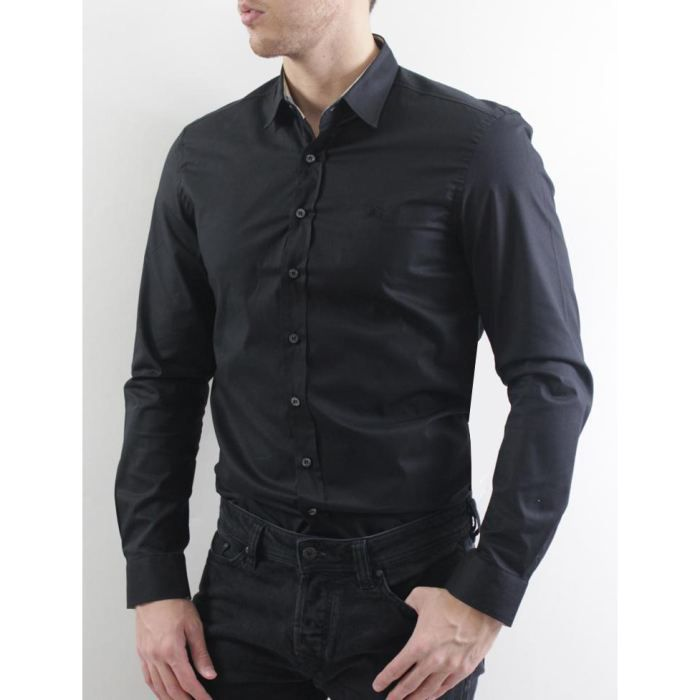 burberry chemises homme chemise noir noir achat vente chemisier blouse cdiscount. Black Bedroom Furniture Sets. Home Design Ideas