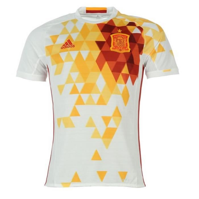 maillot officiel blanc adidas espagne euro 2016 prix pas cher soldes d t cdiscount. Black Bedroom Furniture Sets. Home Design Ideas