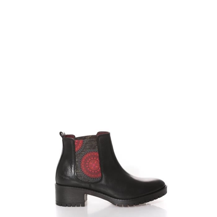 Boots, Bottines Desigual Bottines Shoes Bolas Rojas Charley Noir 67AS6C3