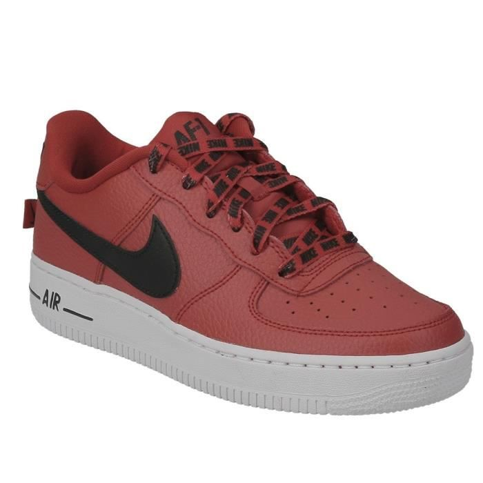 BASKET Basket Nike air force 1 LV8 junior en cuir rouge,
