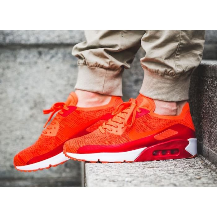 Baskets Nike Air Max 90 Ultra 2.0 Flyknit, Modèle 875943 600