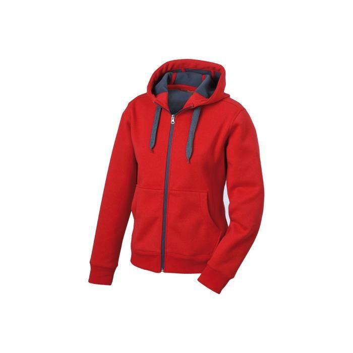 À Capuche Uni Rouge Sweat-shirt Hommes Femmes Pull à capuche en molleton coton blanc NEUF
