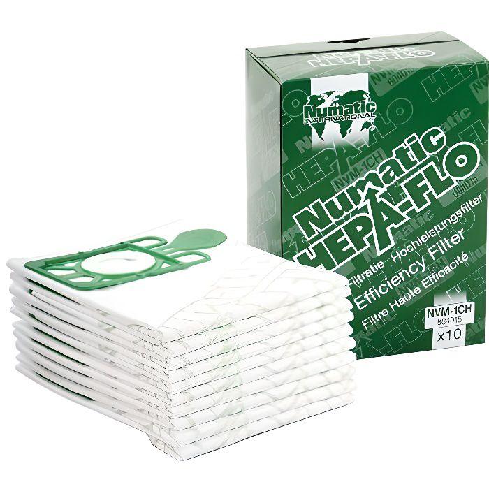 20 x sacs pour aspirateur Numatic Henry Hetty James Filtre Flo Aspirateur Nettoyant Sacs Rouge Fin