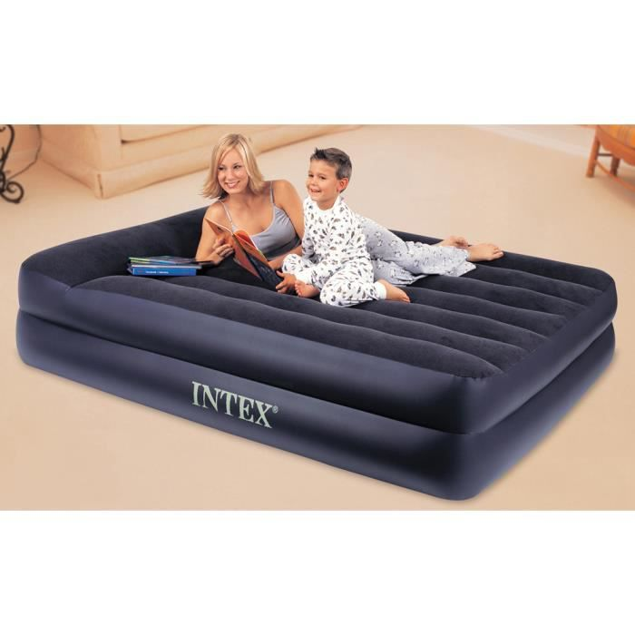 matelas gonflable 2 places lectrique intex 15 achat. Black Bedroom Furniture Sets. Home Design Ideas
