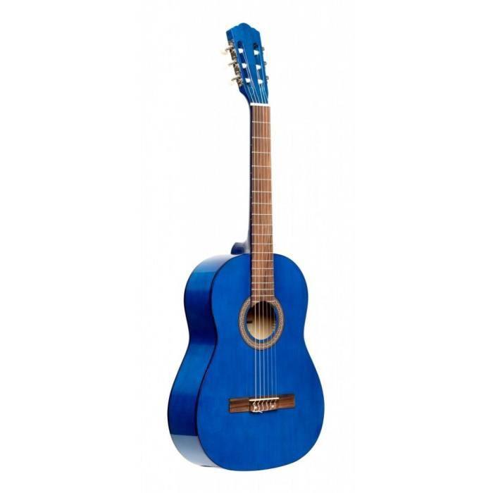 GUITARE Stagg SCL50 3/4-BLUE - Guitare classique 3/4 brill