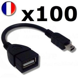 CÂBLE INFORMATIQUE Lot Revendeur - 100 Câbles Adaptateur USB Femelle
