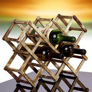 PORTE-VERRE Red Wine Rack en bois 3-6-10 Bouteille Mont Holder