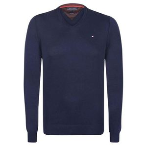 PULL TOMMY HILFIGER Pull col V Pacific - Homme - Bleu m