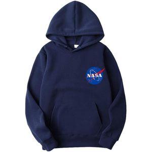 SWEATSHIRT Sweatshirt UMISB NASA Logo Hoodie Universe Back Pr