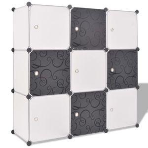 ARMOIRE DE CHAMBRE Organisateur de rangement cube avec 9 compartiment
