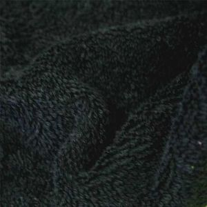 TISSU Tissu Eponge Bouclette Noir - Tissu au mètre - Qua