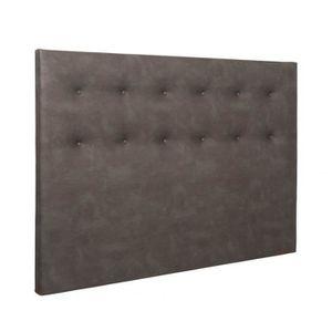 TÊTE DE LIT Tête de lit déco capitonnée simili cuir chocolat 1