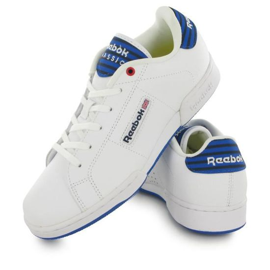 Reebok Npc Ii Stripes blanc, baskets mode enfant Blanc Blanc - Achat / Vente basket