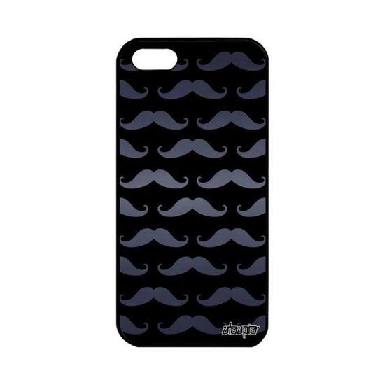 coque iphone 5 5s se silicone moustache unique des