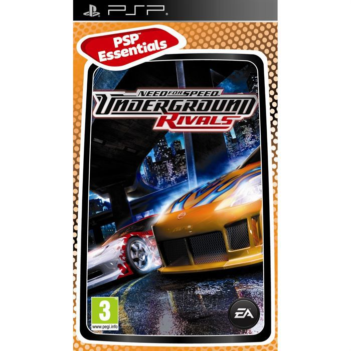 need for speed underground 2 rivals essentials psp achat vente jeu psp need for speed. Black Bedroom Furniture Sets. Home Design Ideas