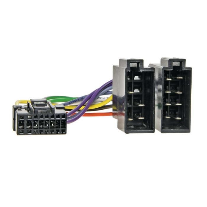 Adaptateur autoradio cable-> ISO SONY 16 PIN