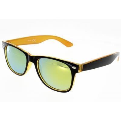 AD SOL SB5089 Style Wayfarer Noire et orange Mi…