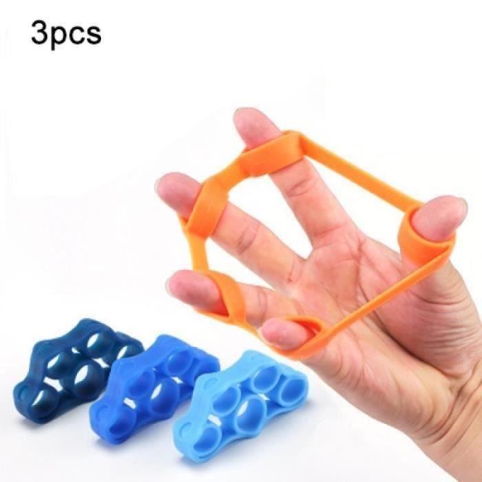 Pack Produits De Fitness - Pack Produits Musculation - 3 Pièces Bande de résistance d'anneau de tension d'extracteur de doigt de