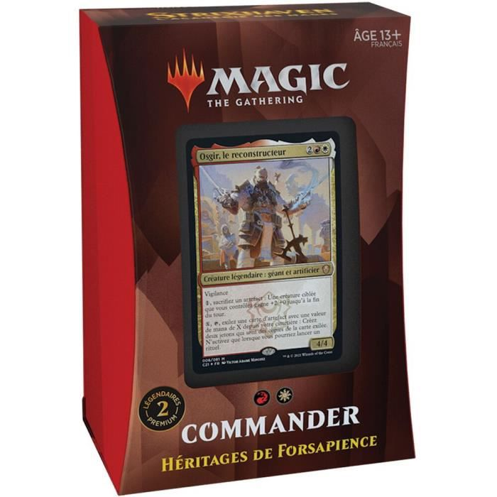 Deck - Magic The Gathering - Strixhaven: L'académie Des Mages : Forsapience (rou