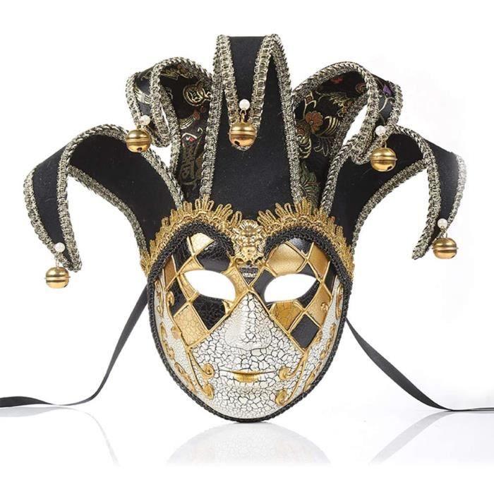 Masque de Femme V&eacutenitien Mascarad,V&eacutenitienne Clown Plein Visage Masque,Adultes de Halloween Motif de Dentelle Masq945