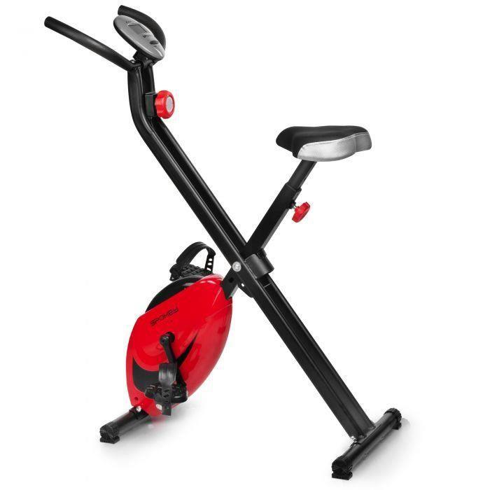 Vélo d'appartement magnétique - 8 niveaux de résistances - Facile à ranger : pliable