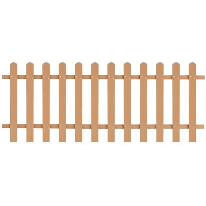 Haute qualité -Clôture à piquets Clôture de jardin - Grillage Panneau de clôture WPC 200 x 80 cm #26810