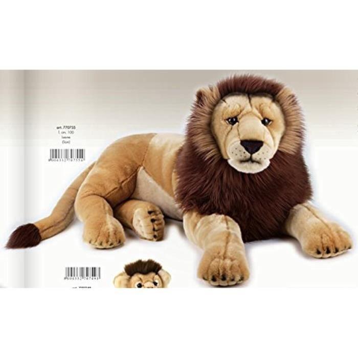 Lelly 100 Cm National Geographic Big Cat Lion Peluche Géant (Marron) 10532