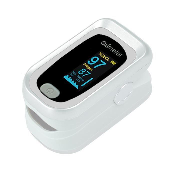 OXYMETRE Testeur de fréquence cardiaque Oxymètre de pouls TFT robuste multifonctionnel pratique pour la maison style-White2