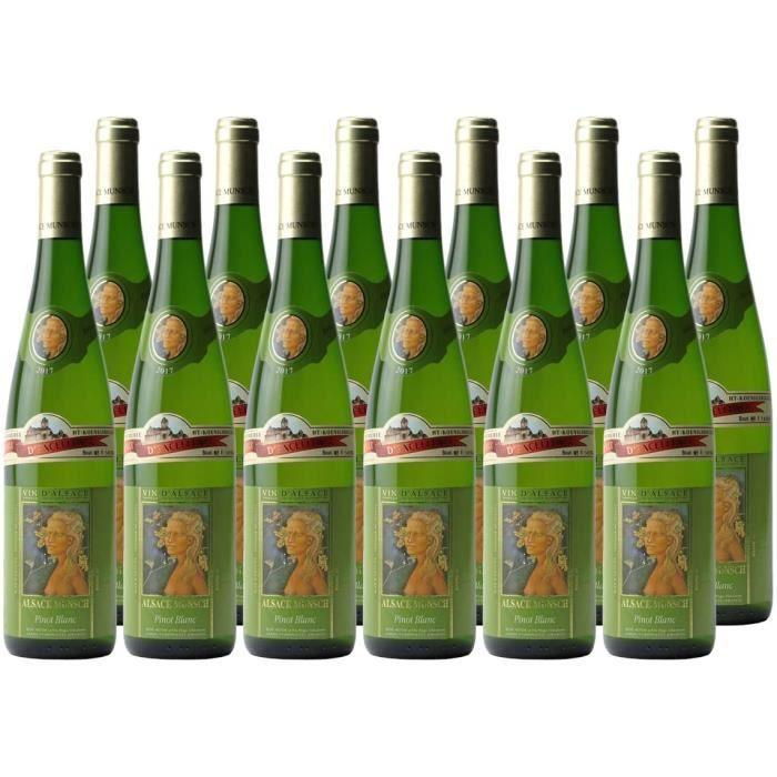 Alsace Pinot Blanc Blanc 2017 - Alsace Munsch - Vin AOC Blanc d' Alsace - C&eacutepage Pinot Blanc - Lot de 12x75cl641