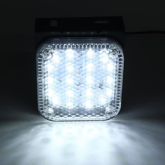 Feux de Remorque 24V 2PCS 20 LED Lampe indicatrice Imperméable Blanc Wir24