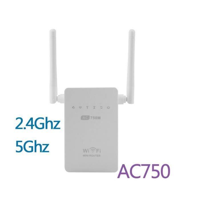 750Mbps 802.11ac 2.4G 5G dual band gamme de routeur Wifi répéteur extender