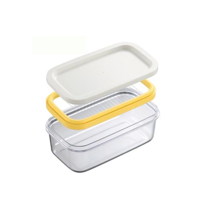 Plats et assiettes,Boîte à beurre de Style nordique,avec couvercle en bois,couteau,plat alimentaire,outil de - Type Slicer Butter #A