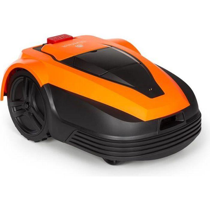 Blumfeldt Garden Hero Robot tondeuse sans fil - pour une surface de 1200m² - hauteur de coupe: 2,5 - 5,5 cm - Orange