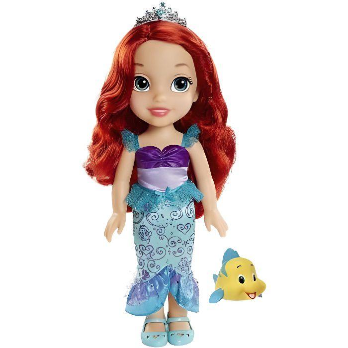 Grande Poupee Ariel la Petite 35 cm+ Polochon + Collier Et Petit Miroir - Disney Princesse - Poupee - Jouet Fille Nouveaute