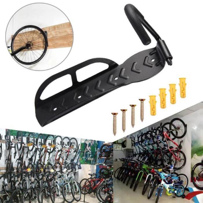 LOVEBAY Support mural vélo -Crochet de rangement vertical - 1PC supports muraux verticaux avec crochet pour vélo