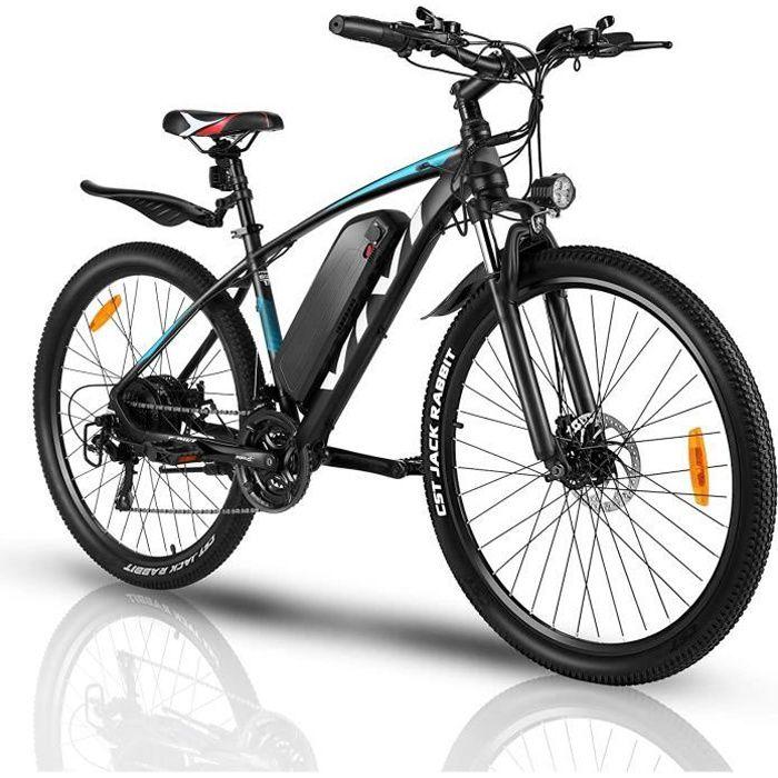 VIVI Vélo Électrique Adulte Vélo de Montagne 27-5 Pouces avec Moteur 500-350W- Batterie 36-48V-10.4Ah Amovible-Engrenages 21