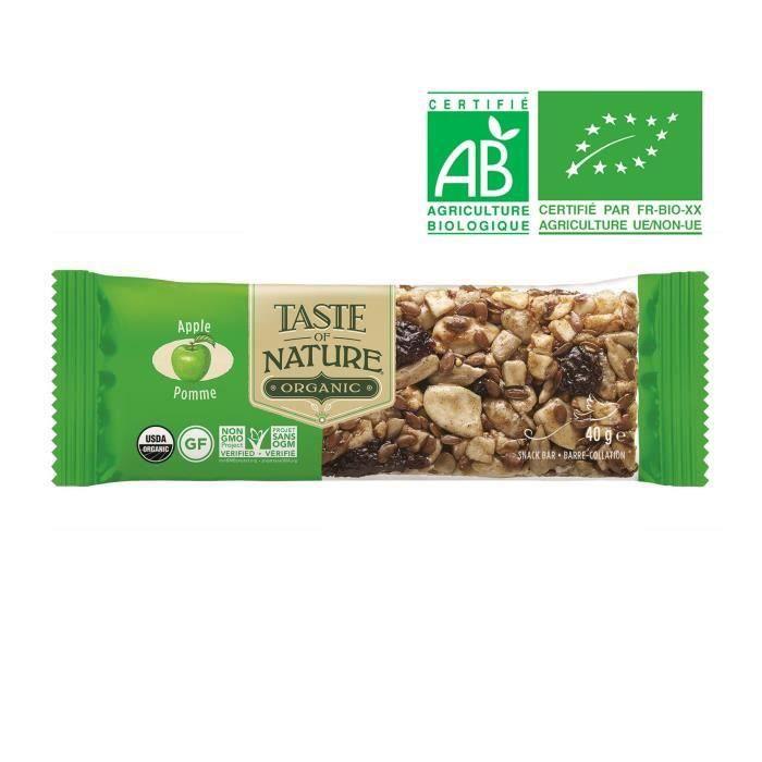 TASTE OF NATURE Barre Pomme Bio 40 g
